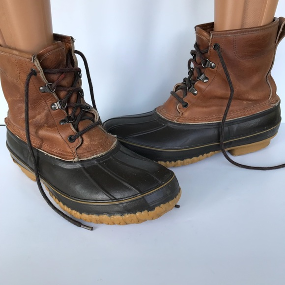 L.L. bean duck boots men's size 11 shearling lined